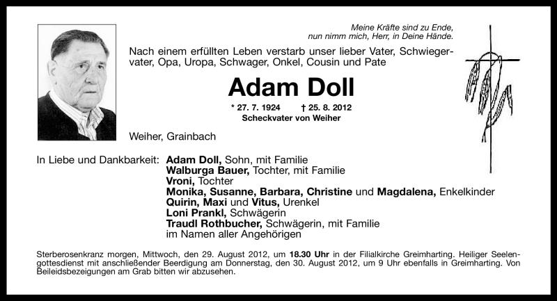 Anzeige von  Adam Doll