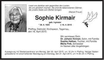 Zur Gedenkseite von Sophie