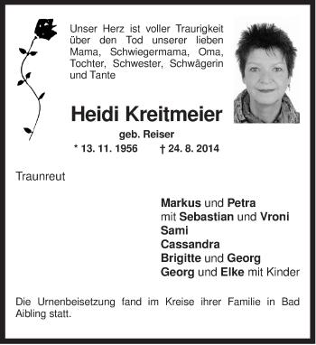 Zur Gedenkseite von Heidi
