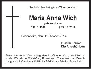 Zur Gedenkseite von Maria Anna