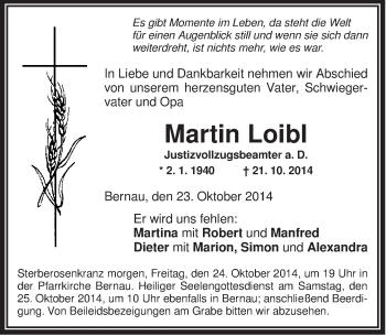 Zur Gedenkseite von Martin
