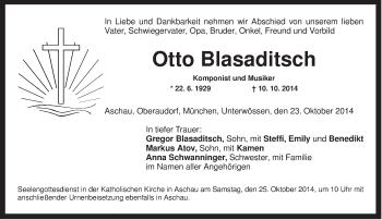 Zur Gedenkseite von Otto