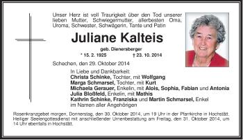 Zur Gedenkseite von Juliane
