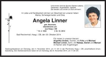 Zur Gedenkseite von Angela