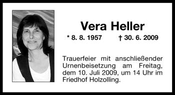 Traueranzeige von Vera Heller von OBERBAYRISCHES VOLKSBLATT