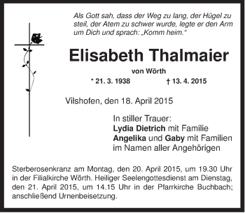 Zur Gedenkseite von Elisabeth