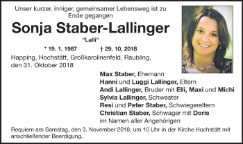 Profilbild von Sonja Staber-Lallinger