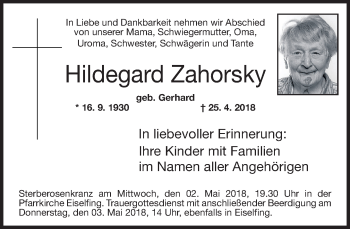 Profilbild von Hildegard Zahorsky