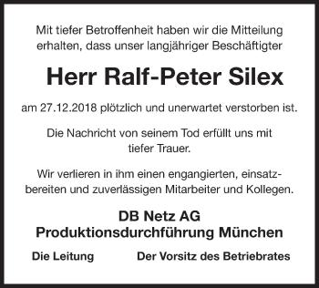 Traueranzeige für Ralf-Peter Silex vom 11.01.2019 aus ovb