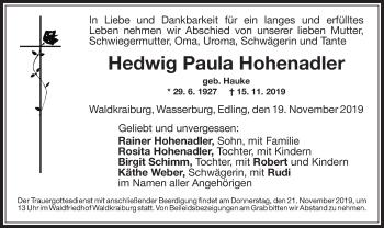 Hedwig PaulaHohenadler