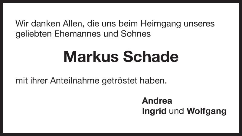 Traueranzeige für Markus Schade vom 09.03.2019 aus ovb