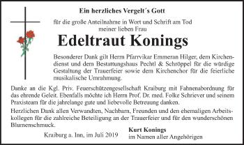 Traueranzeige von Edeltraut Konings von ovb