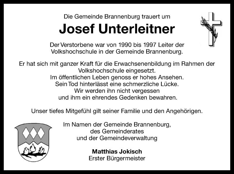 Traueranzeige für Josef Unterleitner vom 11.07.2019 aus ovb