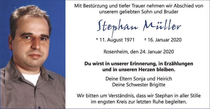 Anzeige von  Stefan Müller