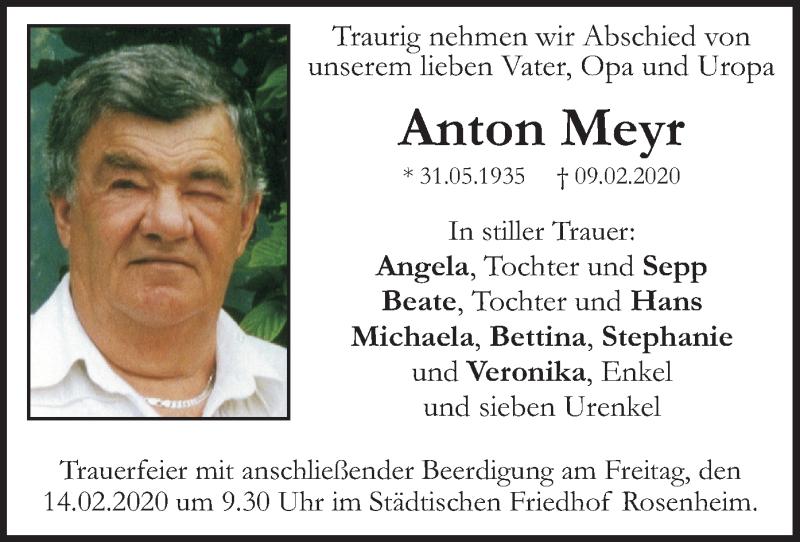 Traueranzeige für Anton Meyr vom 12.02.2020 aus ovb