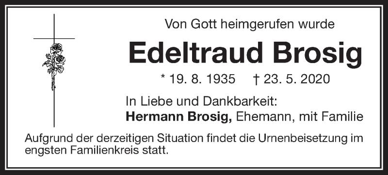 Anzeige von  Edeltraud Brosig