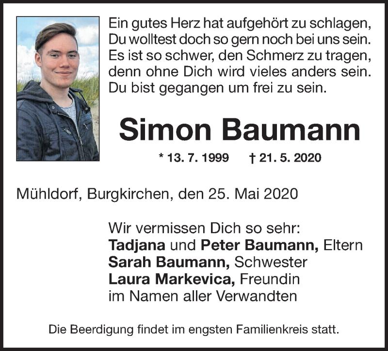 Anzeige von  Simon Baumann