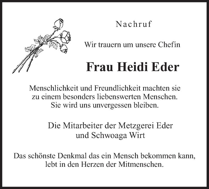 Traueranzeige für Heidi Eder vom 29.06.2020 aus ovb