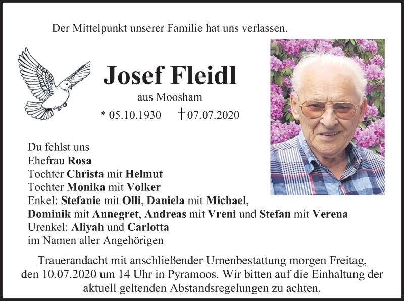 Anzeige von  Josef Fleidl