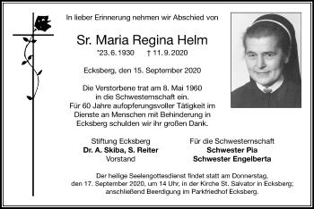 Maria ReginaHelm