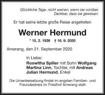 Traueranzeige von Werner Hermund von ovb