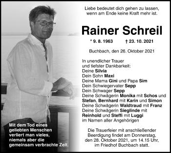 Traueranzeige von Rainer Schreil von ovb