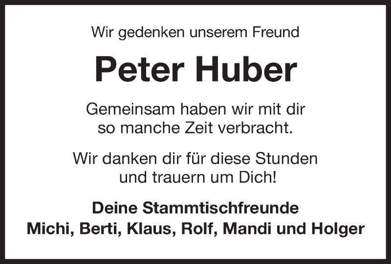 Traueranzeige für Peter Huber vom 11.02.2021 aus ovb
