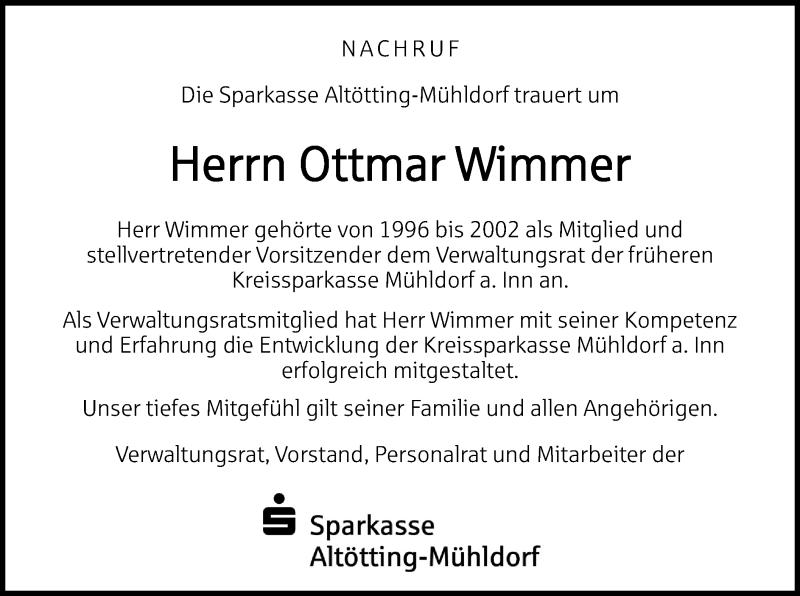 Traueranzeige für Ottmar Wimmer vom 03.05.2021 aus ovb