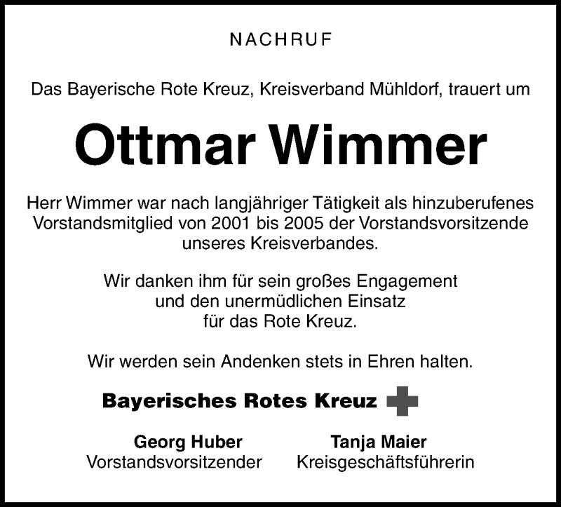 Traueranzeige für Ottmar Wimmer vom 05.05.2021 aus ovb