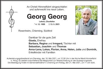 Traueranzeige von Georg Georg von ovb