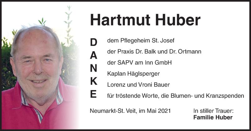 Traueranzeige für Hartmut Huber vom 29.05.2021 aus ovb