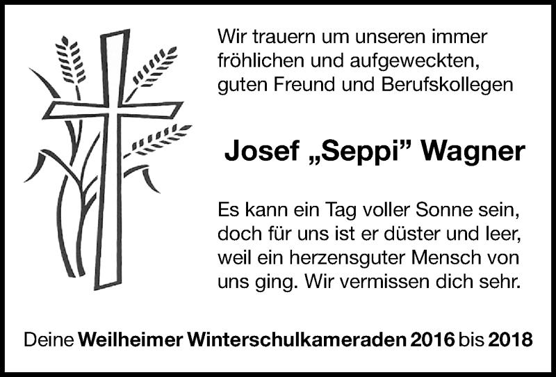 Traueranzeige für Josef Wagner vom 11.05.2021 aus ovb