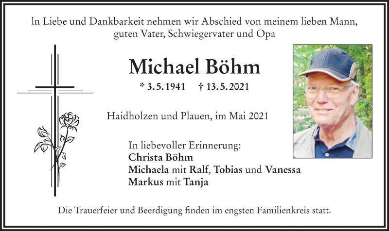 Traueranzeige für Michael Böhm vom 18.05.2021 aus ovb