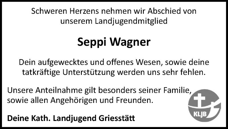 Traueranzeige für Seppi Wagner vom 11.05.2021 aus ovb
