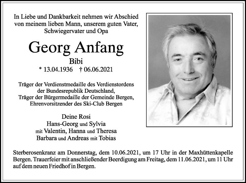 Traueranzeige für Georg Anfang vom 09.06.2021 aus ovb