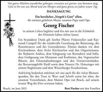 Traueranzeige von Georg Fischer von ovb