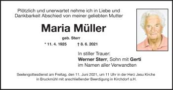 Traueranzeige von Maria Müller von ovb
